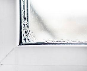 What causes condensation in windows?