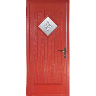 Edinburgh A diamond port hole adds to this stylish door finished with grooved central panel.