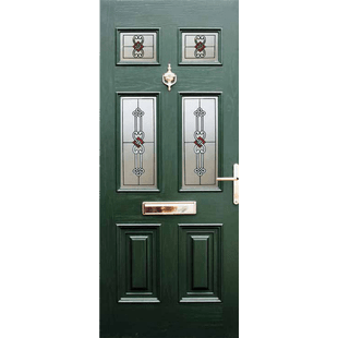 Georgian Classic Georgian style door, with four glass lights and two sculptured panels.