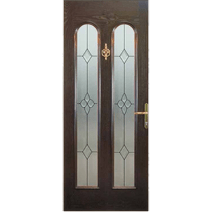 San Marco Two large arched glass lights, make areal feature of this door.