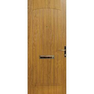 T&GSolid A solid door with a central grooved panel gives complete privacy.